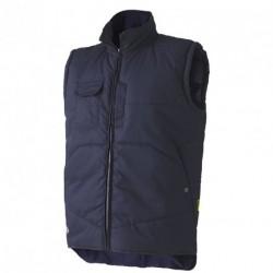 Navy vest body-warmer