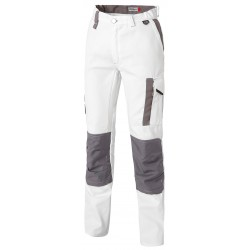 White & Pro trousers with kneepads
