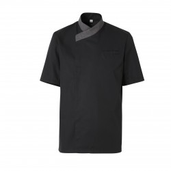 Black cooking jacket Exalt'S (short sleeves)