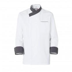 Blanco y punteados chaqueta Exalt'S