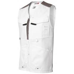 White & Pro multi pockets waistcoat