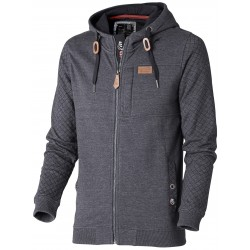 DENIM Hooded Zip Sweatshirt