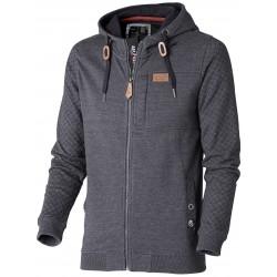 DENIM Hooded Zip Sweatshirt