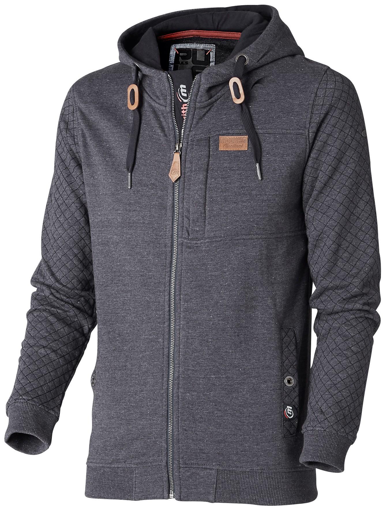 Sweat zippé capuche denim : vêtements professionnels Molinel